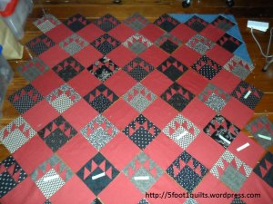image of bear claw quilt
