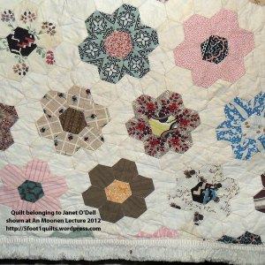 image of Janet O'Dell hexagon quilt