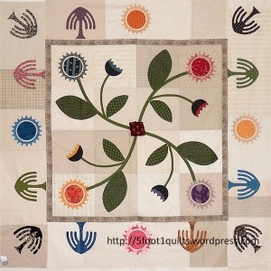 image of sunflower willow quilt