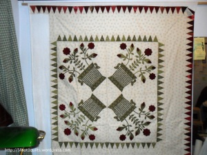 image of texas rose baskets quilt